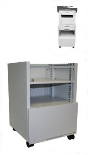 Adjustable Multiple Height Caster Cabinet for Lexmark and Dell Printers