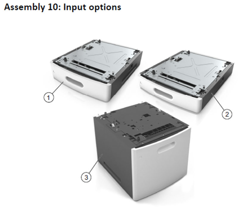 Lexmark MS810 Assembly 10: Input Options