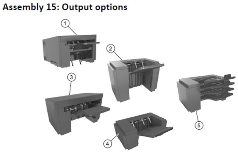 Lexmark MS810 Assembly 15: Output Options