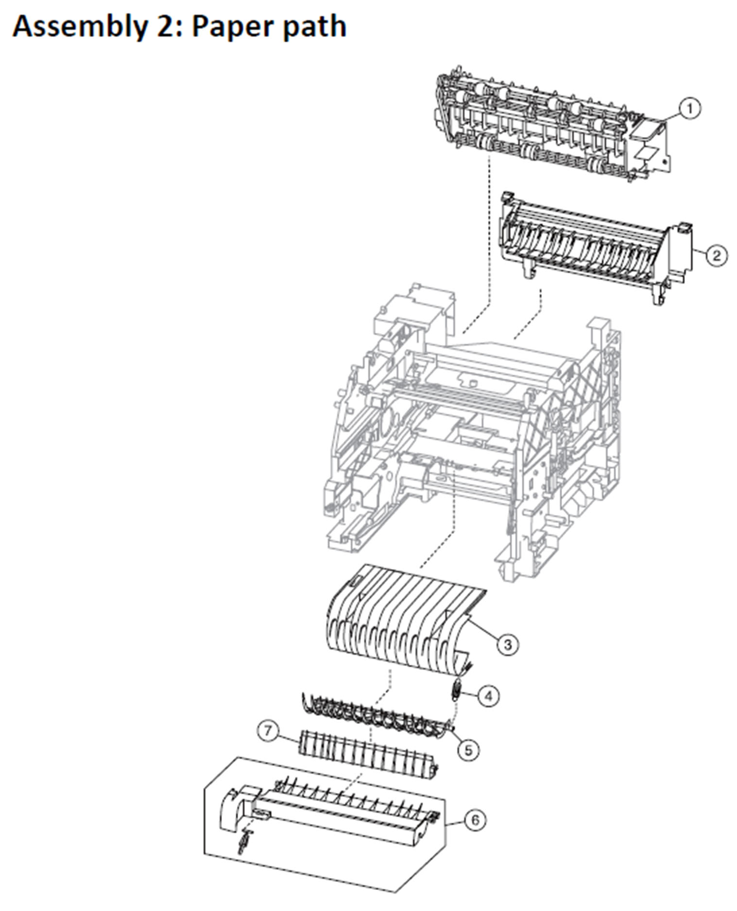 Lexmark MS810 Assembly 2: Paper Path