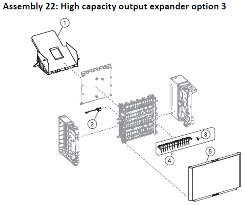 Lexmark MS810 Assembly 22: High Capacity Output Expander Option 3