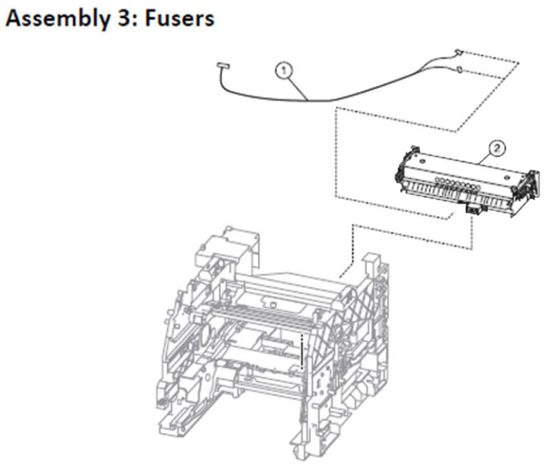 Lexmark MS810 Assembly 3: Fusers