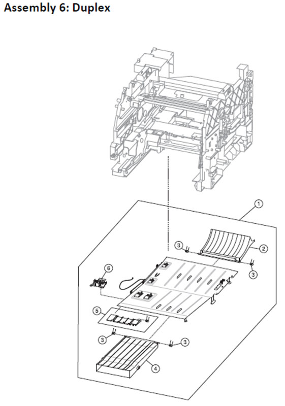 Lexmark MS810 Assembly 6: Duplex